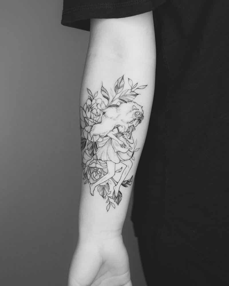 Princess Mononoke Tattoos : princess, mononoke, tattoos, Princess, Mononoke, Tattoos