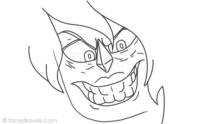 How to Draw Jasper Creepy Face from Steven Universe
