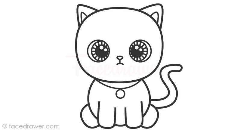 How to Draw Cat for Kids! Learn How to Draw Cute Cat Step