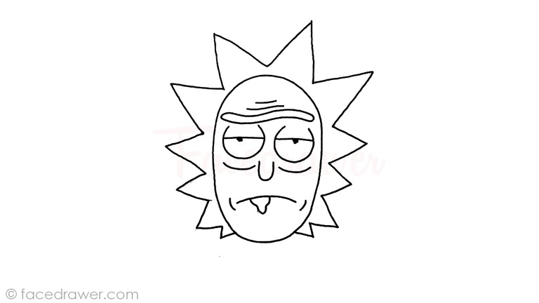 Rick from Rick and Morty Drawing Lesson. Learn How to Draw