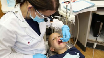 Child's Dental Check-Up Exam