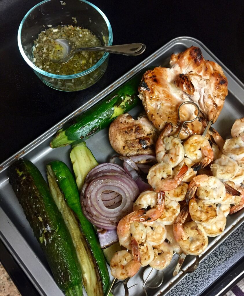 Grilled Shrimp With Capers : grilled, shrimp, capers, Grilled, Garlic, Shrimp, Lemon, Oregano, Caper, Drizzle