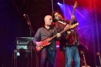 Alan Parsons Live Project - Festival Tour 2014 am 10.08.2014 auf der Burg Monschau in Monschau Guy Erez, links - Alan Parsons, rechts Foto: Revierfoto