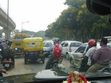 Bangalore traffic, always a treat!