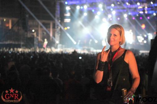 Working for Guns N' Roses India Tour - at the Mumbai show