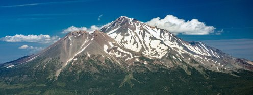View of Mt. Shasta from summit of Mt. Eddy