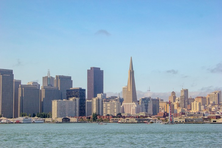 The San Francisco City Sky Line viewed from the bay