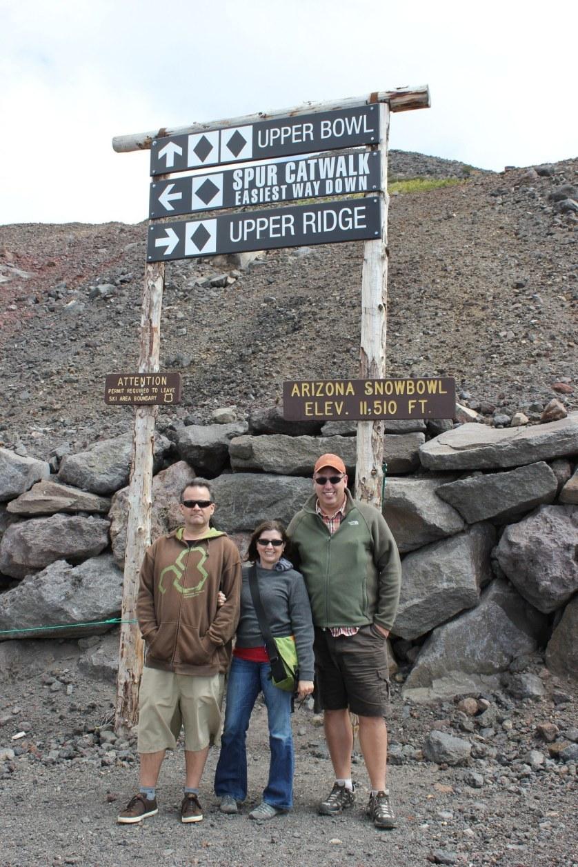 Standing near the top of Agassiz Peak in Flagstaff, Arizona