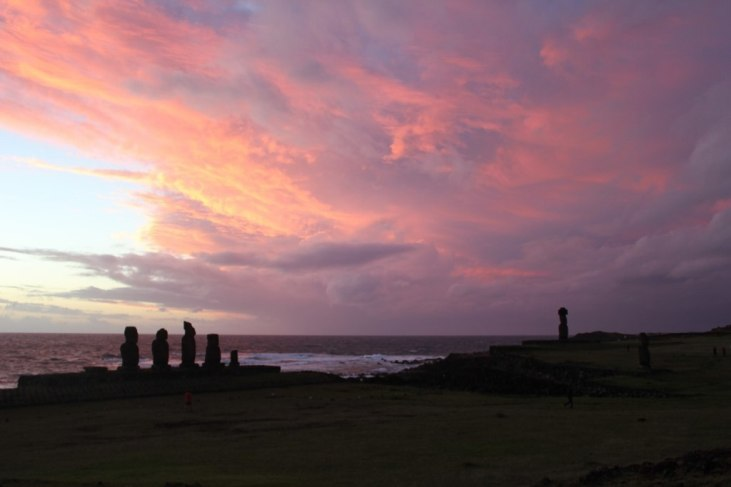 Sunset at Tahai, Easter Island Itinerary