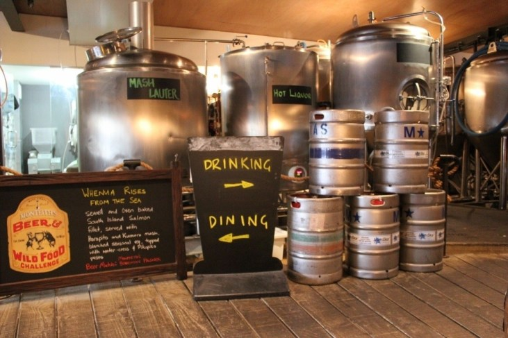 Kegs and Casks at Fork and Brewery in Wellington, New Zealand