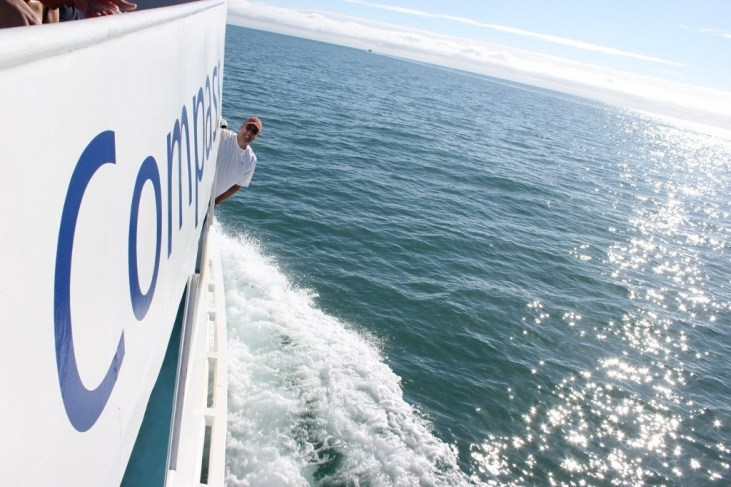 On the Compass Cruises boat excursion to Great Barrier Reef