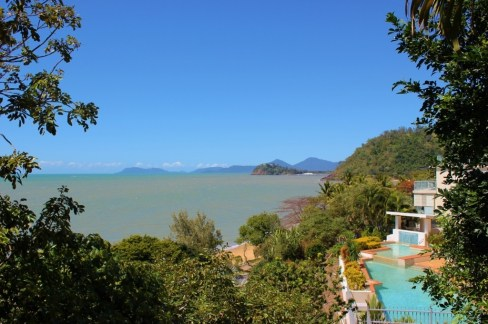 View of Trinity Beach near Cairns, Australia