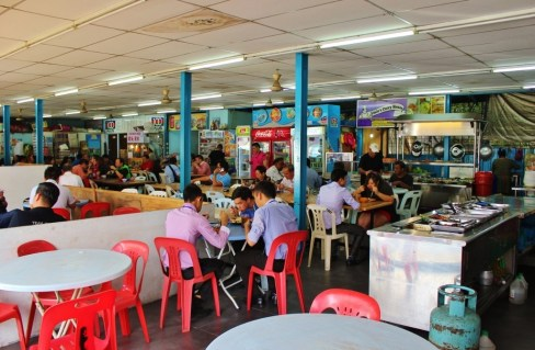 Hawker Stall on Jalan Trus in Johor Bahru, Malaysia