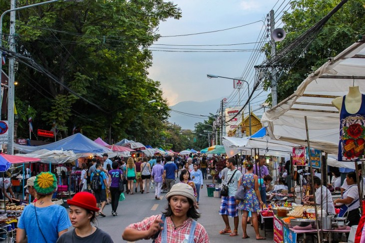 Saturday Walking Street Market in Chiang Mai, Thailand