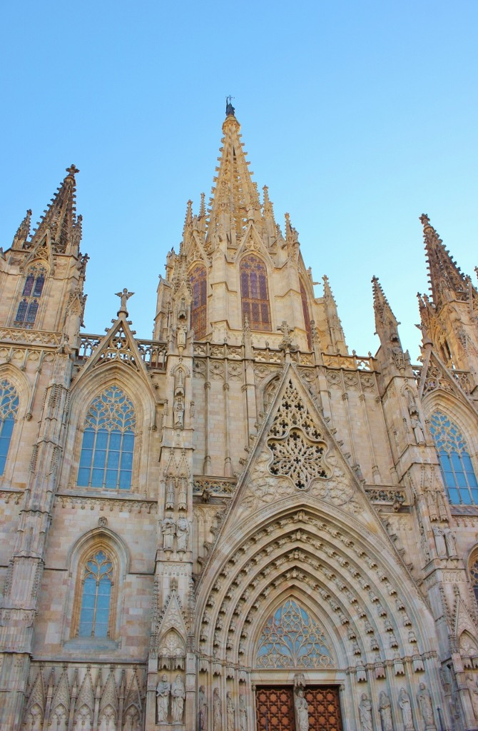 La Catedral, Barcelona Cathedral in Barri Gothic in Barcelona, Spain