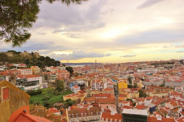 Miradouro lookout point in Lisbon, Portugal