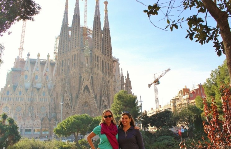 The still unfinished La Sagrada Familia in Barcelona, Spain