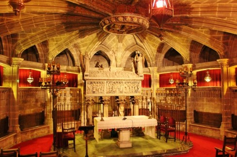 Crypt at La Catedral in Barcelona, Spain