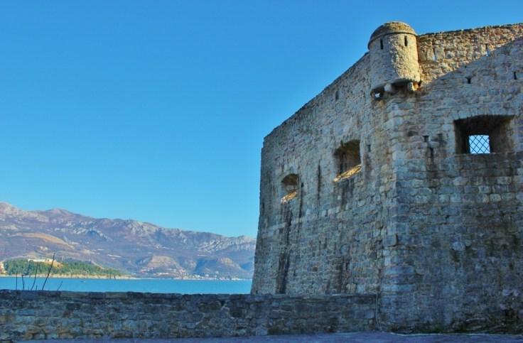 Budva Citadel and view of sea