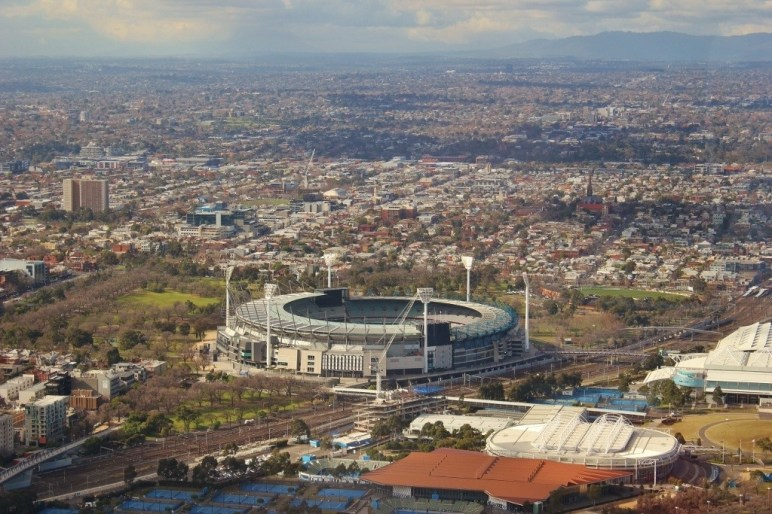 The Melbourne Cricket Ground from the Eureka Skydeck.