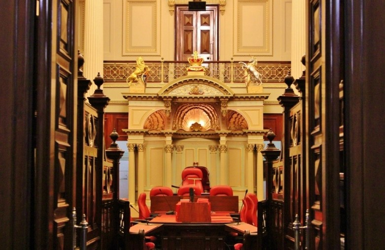 We sat in the Legislative Council Chamber during the 'Parliament' portion of our Parliament and a Politician Pub Crawl