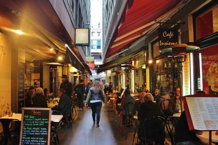 One of Melbourne's many trendy laneways.