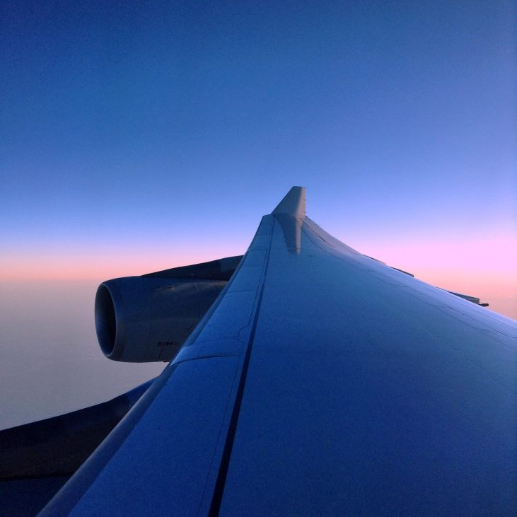 Sunrise on Leg 3 of our Epic Travel Day