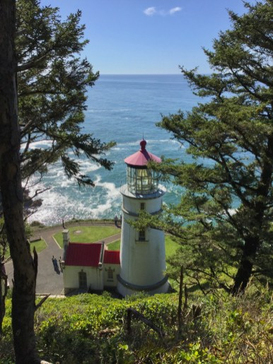 Pacific Ocean and Heceta Lighthouse View, Oregon Coast