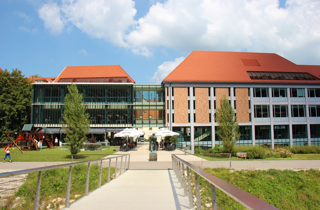 The modern Celje Central Library, Celje, Slovenia