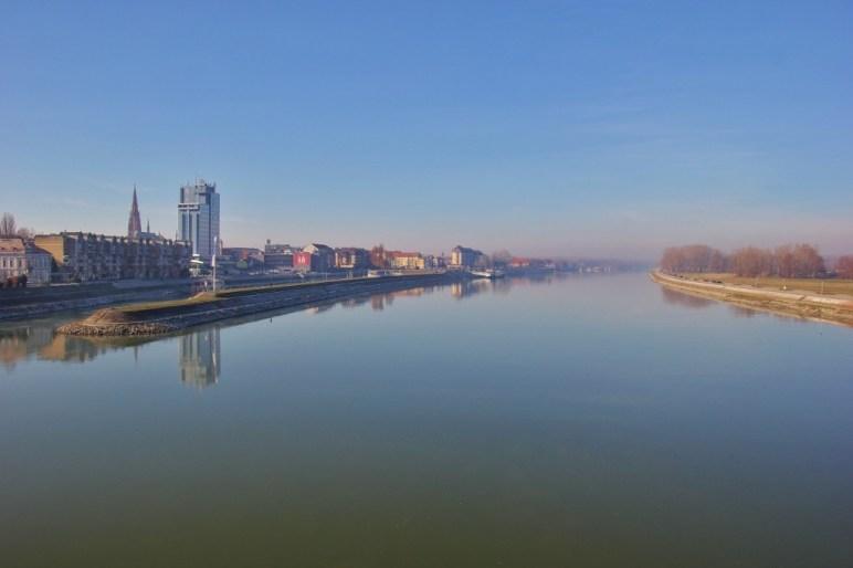 Osijek, Croatia on the Drava River