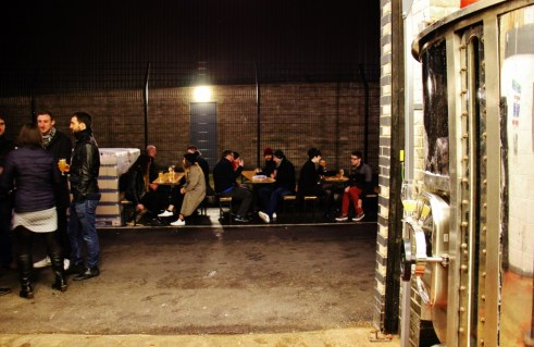 Outdoor seating at the Partizan Brewing Taproom, Bermondsey Beer Mile, London Craft Beer Crawl