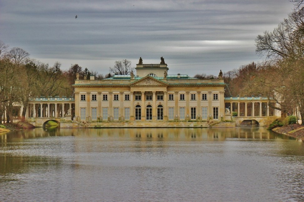 Palace on the Isle, a royal summer residence, at Lazienki Royal Park in Warsaw, Poland