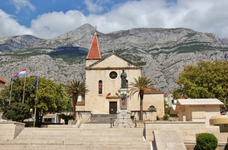 St. Mark's Church on Kacic Square, Makarska, Croatia