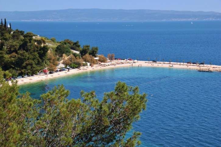 Kasjuni Beach at Marjan Hill in Split, Croatia