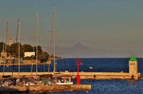 Marina and coastline in Bol, Brac, Croatia