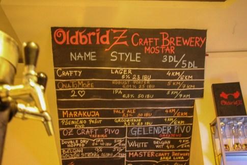 Local Craft Beer Old Bridz in Mostar, Bosnia and Herzegovina
