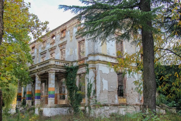 Building in ruins in Mostar, Bosnia and Herzegovina