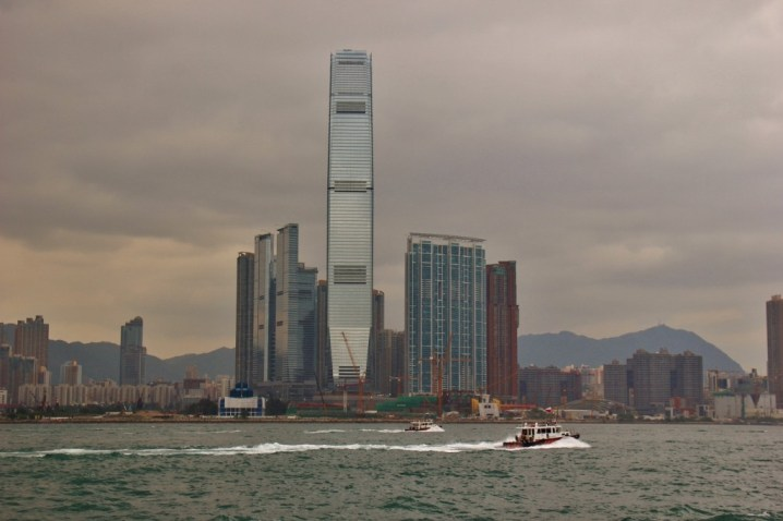 International Commerce Centre ICC and TST skyline in Hong Kong