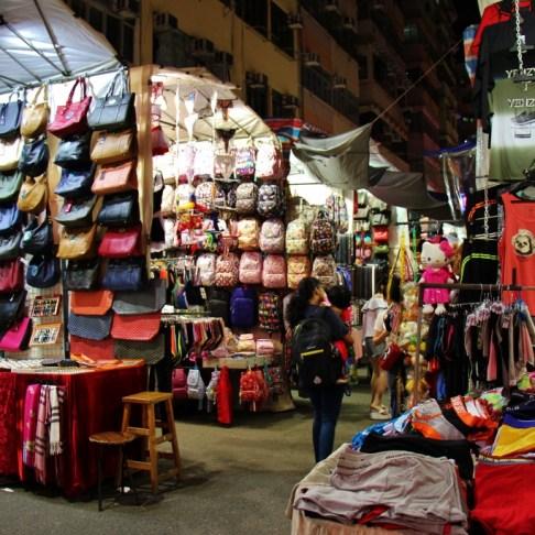 Shopping Ladies Market stalls in Hong Kong