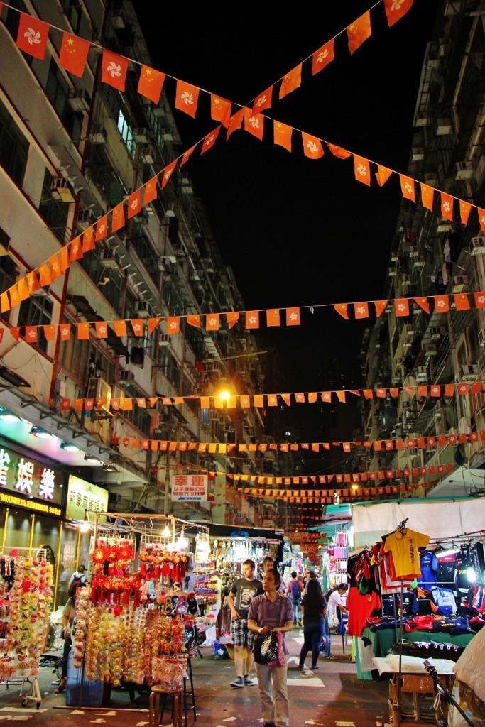 Temple Street Night Market Stalls in Hong Kong