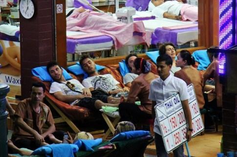 Massages at spa in Bangkok, Thailand