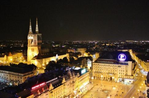 City view from Zagreb 360, Zagreb, Croatia