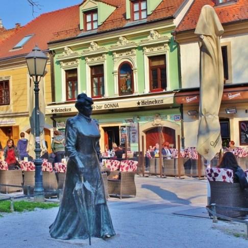 Statue on Tkalciceva Street, Zagreb, Croatia