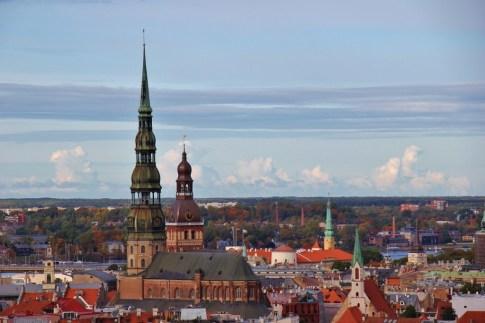 Skyline of Riga, Latvia from Latvian Academy of Sciences viewing platform