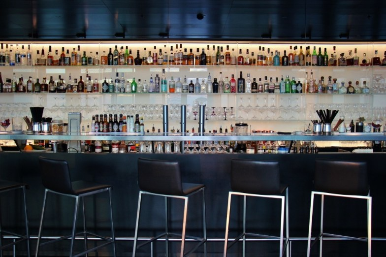 Bar at 57 Lounge in DC Tower in Vienna, Austria