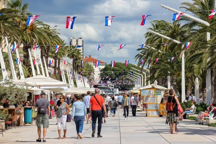 The Waterfront Riva in Split, Croatia