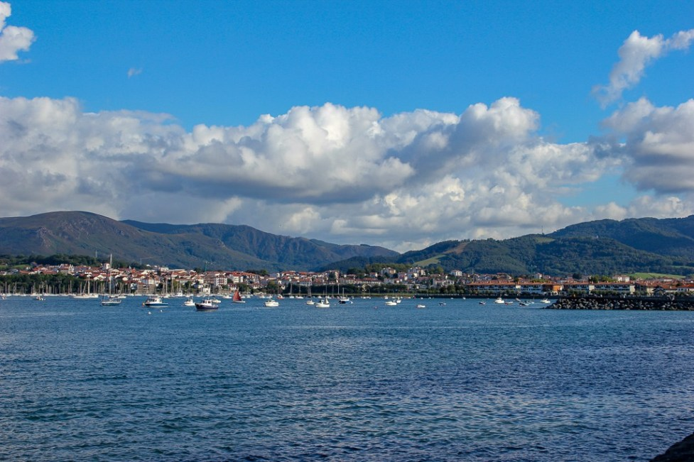 Bay of Hondarribia in Basque Country, Spain