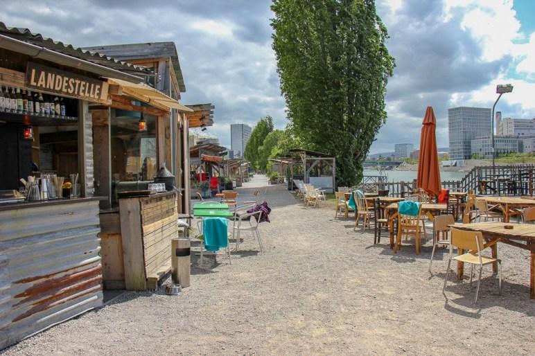 Bar at Holzpark Klybeck in Basel, Switzerland