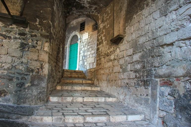 discovering hidden Old Town Stairs, Sibenik, Croatia