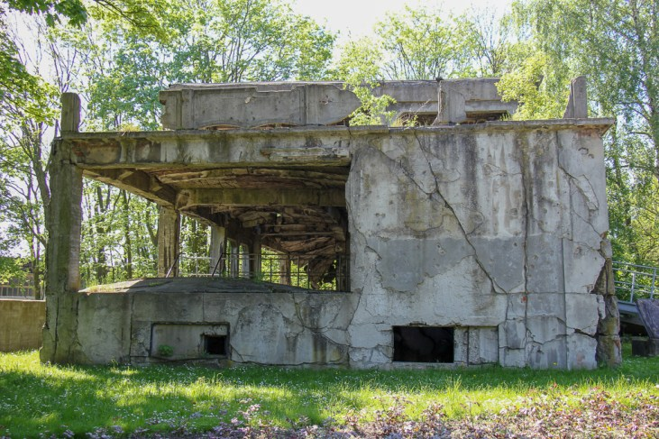 Building in ruins at Westerplatte near Gdansk, Poland